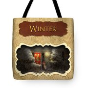 Winter Button Tote Bag by Mike Savad