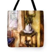 Winter - Christmas - Early Christmas Morning Tote Bag by Mike Savad
