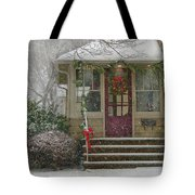 Winter - Dreaming Of A White Christmas Tote Bag by Mike Savad
