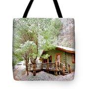 Winter Green Tote Bag by Debra and Dave Vanderlaan