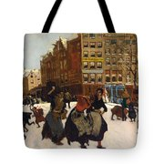 Winter In Amsterdam Tote Bag by Georg Hendrik Breitner