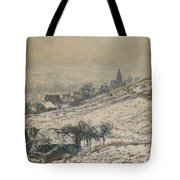 Winter In Giverny Tote Bag by Claude Monet