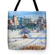 Winter In Lourmarin Tote Bag by Jean-Marc Janiaczyk