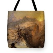 Winter in Switzerland Tote Bag by Jasper Francis Cropsey