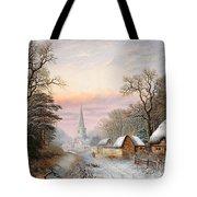 Winter Landscape Tote Bag by Charles Leaver