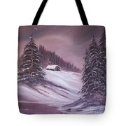 Winter Moon Tote Bag by Janice Rae Pariza