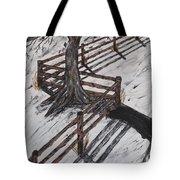 Winter Moon Shadow Tote Bag by Jeffrey Koss