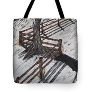 Winter Moon Shadow Tote Bag by Jeffrey Koss