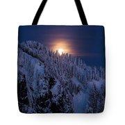 Winter Mountain Moonrise Tote Bag by Mike Reid