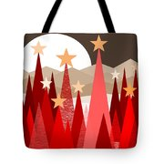 Winter Reds Tote Bag by Val Arie