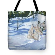 Winter Romp Tote Bag by Molly Poole
