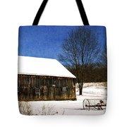 Winter Scenic Farm Tote Bag by Christina Rollo