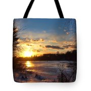 Winter Sundown Tote Bag by Joann Vitali