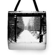 Winter Tracks Tote Bag by Aaron Lee VonBerg