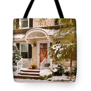 Winter - Westfield Nj - It's Too Early For Winter Tote Bag by Mike Savad