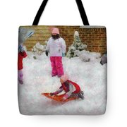 Winter - Winter is Fun Tote Bag by Mike Savad