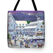 Wintertime At Waterville Valley New Hampshire Tote Bag by Nancy Griswold