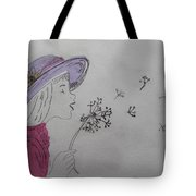 Wish Upon A Dandelion In Colour Tote Bag by Jennifer Schwab