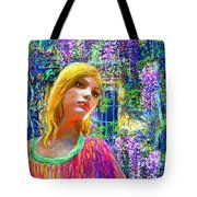 Wisteria Tote Bag by Jane Small