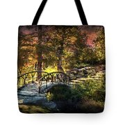 Woddard Park Bridge II Tote Bag by Tamyra Ayles