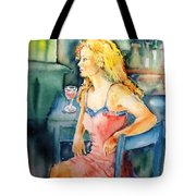 Woman Waiting  Tote Bag by Trudi Doyle