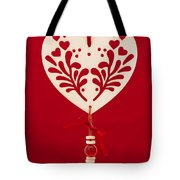Wooden Heart Tote Bag by Anne Gilbert