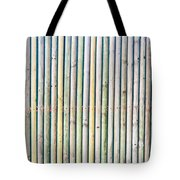 Wooden Poles Tote Bag by Tom Gowanlock