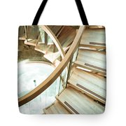 Wooden staircase Tote Bag by Tom Gowanlock