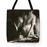 Woodrow And Edith Wilson Tote Bag by Georgia Fowler