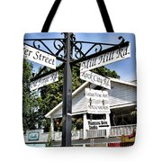 Woodstock Crossroads Tote Bag by Nancy  de Flon