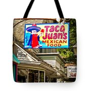 Woodstock Shop Signs Tote Bag by Nancy  de Flon