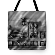 Woodworker - Wood Working Tools Tote Bag by Mike Savad
