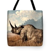 Woolly Rhino And A Marmot Tote Bag by Daniel Eskridge
