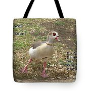 Words of Wisdom - Do Not Drink And Tote Bag by Ella Kaye Dickey