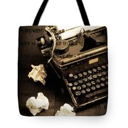 Words Punched On To Paper Tote Bag by Edward Fielding