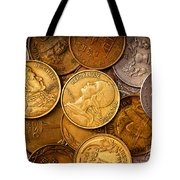 World Coins Tote Bag by Mark Miller