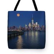 World Trade Center Super Moon Tote Bag by Susan Candelario