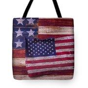 Worn American Flag Tote Bag by Garry Gay