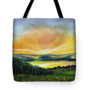Wrapped In Light Tote Bag by Meaghan Troup