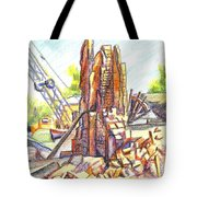 Wrecking Ball Tote Bag by Kip DeVore
