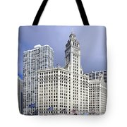 Wrigley Building Chicago Tote Bag by Christine Till
