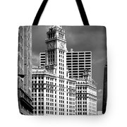 Wrigley Building Chicago Illinois Tote Bag by Christine Till