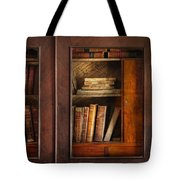 Writer - Books - The Book Cabinet  Tote Bag by Mike Savad