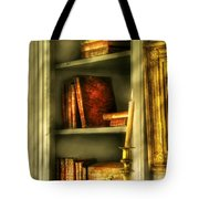 Writer - In The Library  Tote Bag by Mike Savad