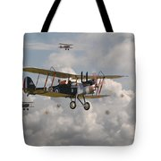 Ww1 Re8 Aircraft Tote Bag by Pat Speirs