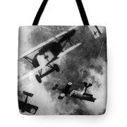 Wwi German British Dogfight Tote Bag by Nypl