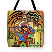 Ya Mon 2 No Steal Drums Tote Bag by Anthony Falbo
