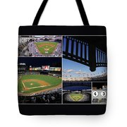 Yankee Stadium Collage Tote Bag by Allen Beatty