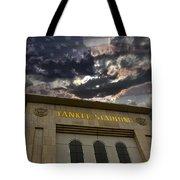 Yankee Stadium Ny Tote Bag by Chris Thomas