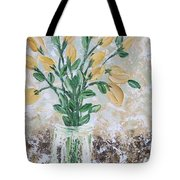 Yellow Bouquet Tote Bag by Molly Roberts